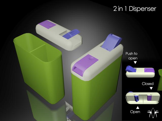 2 in 1 dispenser