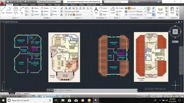 Ground Floor and Attic Civil Plans