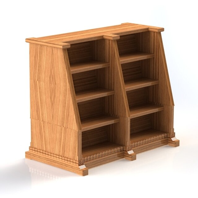 Wooden Display Case - Pennsylvania Law Library Restoration Project 2017