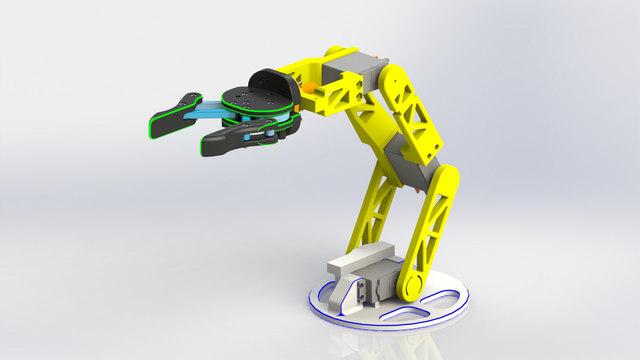 Multipurpose Robotic Arm with 4 DOF