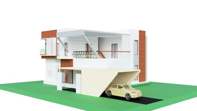 Bungalow 3D Model Project.
