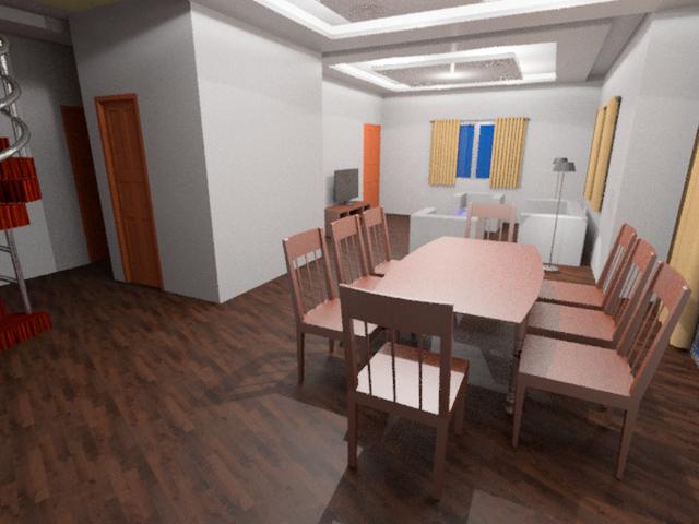 Interior Modeling Duplex house