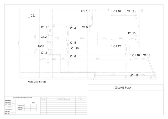 Steel shop drawing residence 2