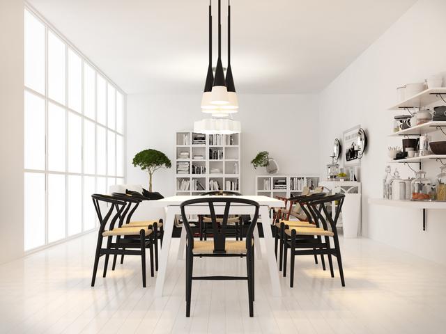 3d Visual scandinavian white interior