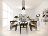 3d Visual scandinavian white interior