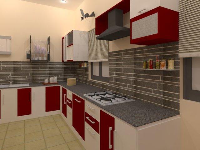 Kitchen and Bedroom interior