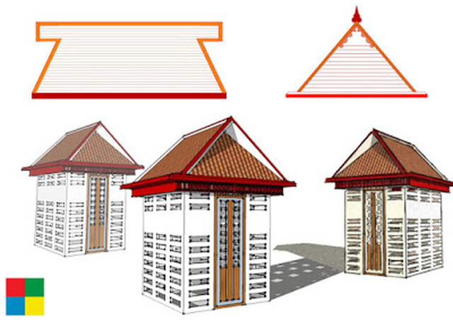 Design of a traditional type Pooja room