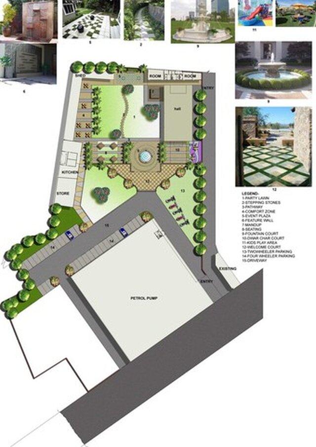 landscape design of a marriage garden