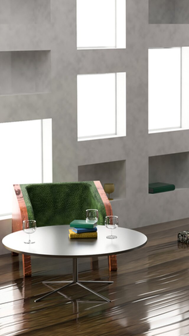 Wooden Chair and HD Rendering