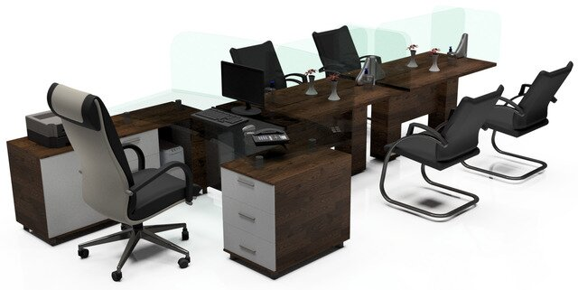 Covid-19 Meeting Office Desk Concept