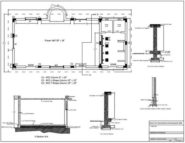 Mosque 2D Floor Plan
