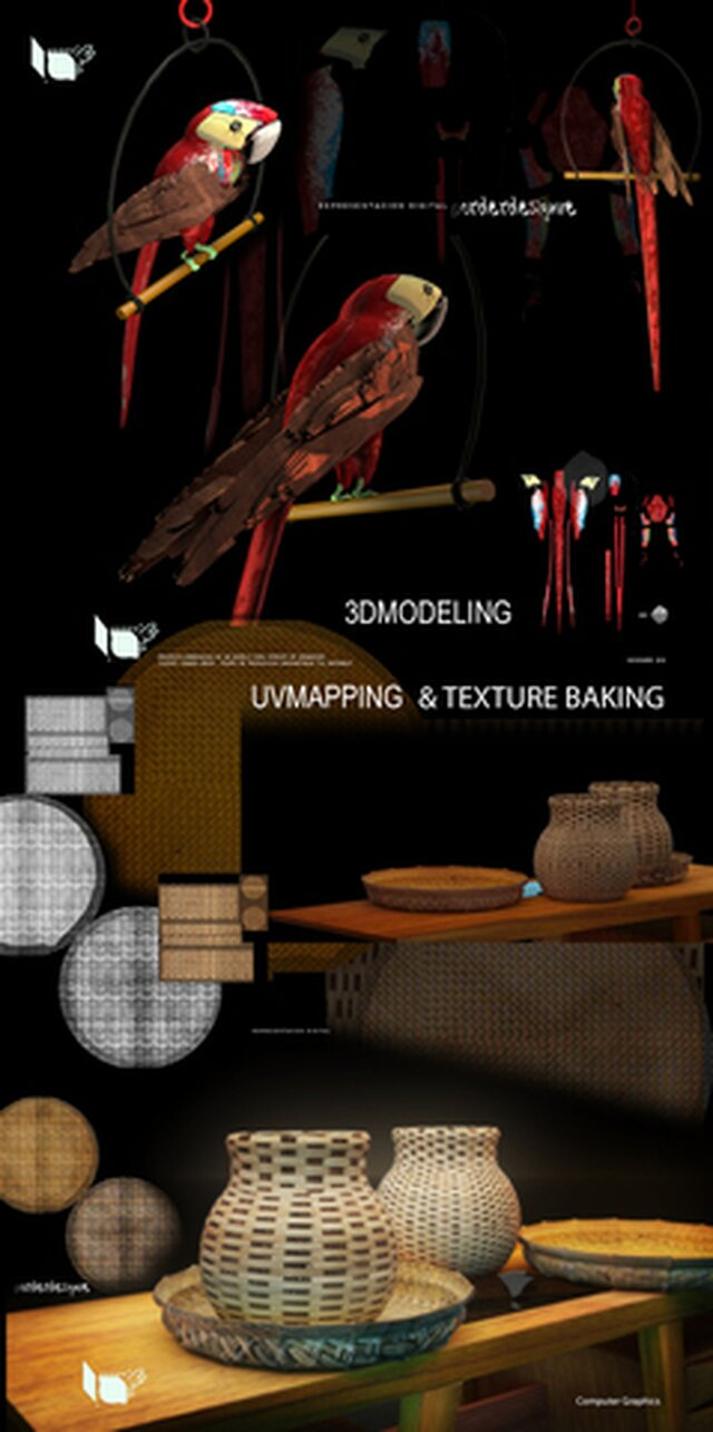 Game PROPS - 3D modeling UVmapping