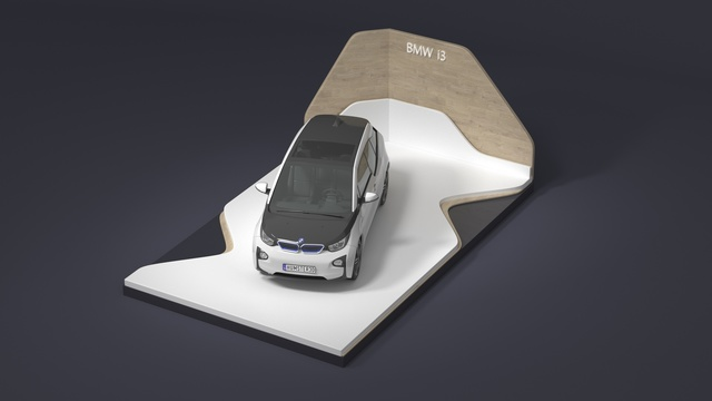 Exhibition stand concept for BMW I3