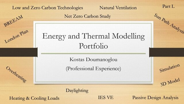 Energy and Thermal Modelling for buildings