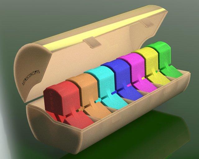 7 days pill organizer - Rectangular design (concept 3)