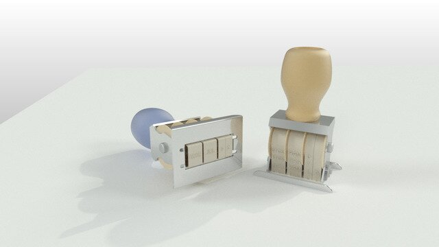 Office Desk Date Stamp Model