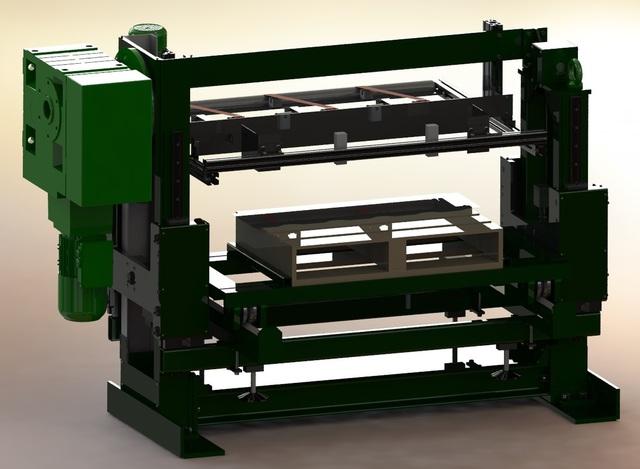 Sheet metal stacking machine