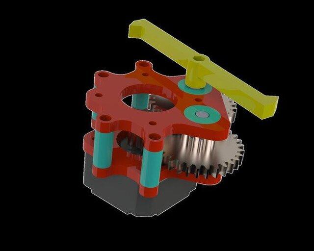 3D Printed Nema Stepper Motor Gearbox