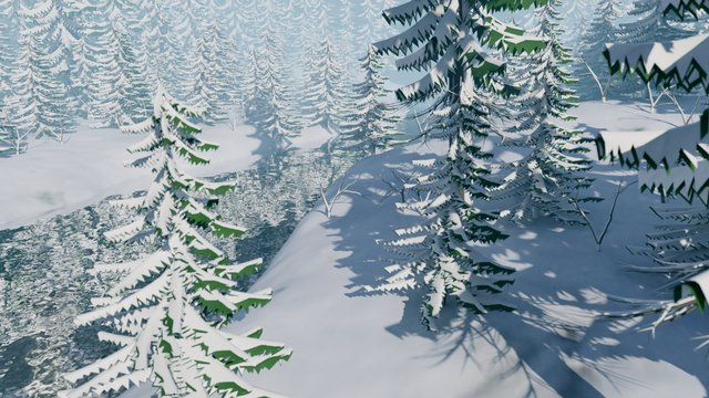 Frosty Nature 3D
