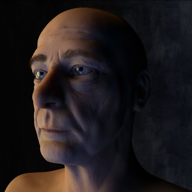 Older Man Model and Texture