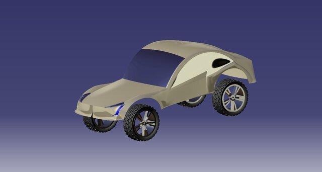Climb Race car concept