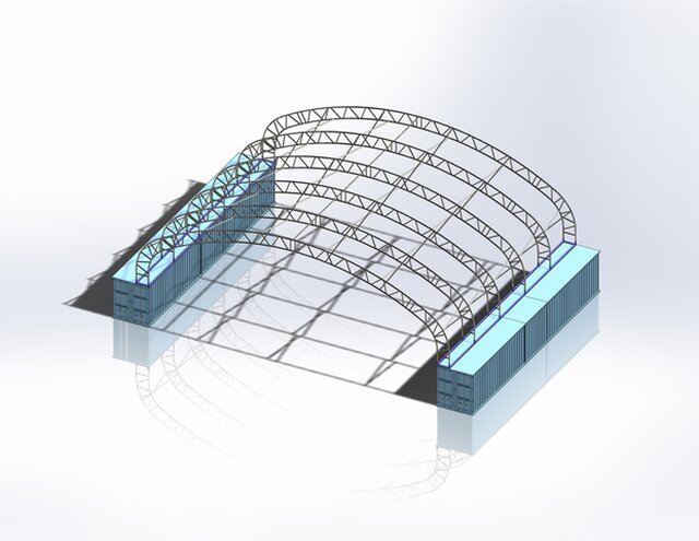 Temporary Shelter Support Structure.