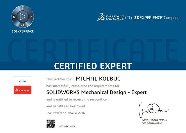 Solidworks Certificates