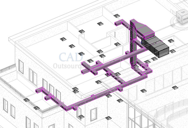 HVAC Duct Shop Drawing - download free 3D model by cadservice - Cad Crowd | Hvac Piping Drawing |  | Cad Crowd