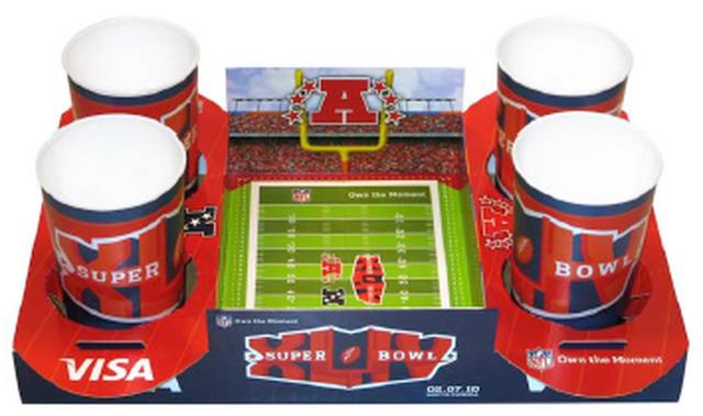 NFL SUPERBOWL XLIV Commemorative Paperboard Tray