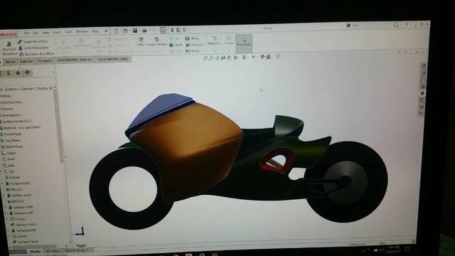 Model of a bike