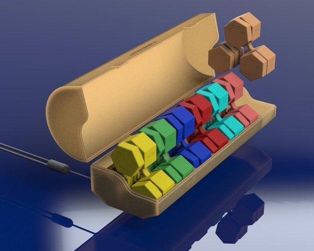 7 days pill organizer - hexagonal design (concept 2)