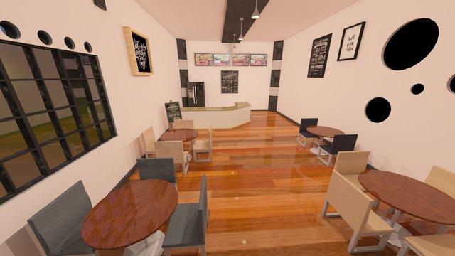 Interior and Exterior design for cafe