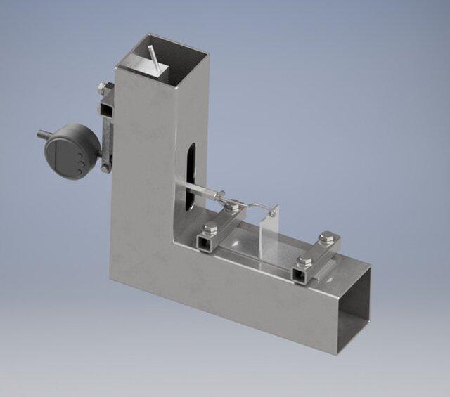 Equipment for T-joint welded aliuminium strain measuring
