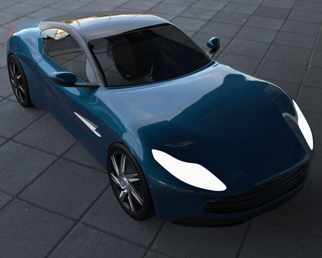 Aston martin Rendering