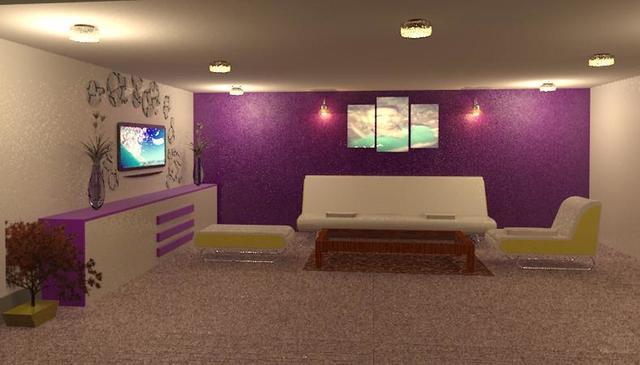 hall inerior design rendering
