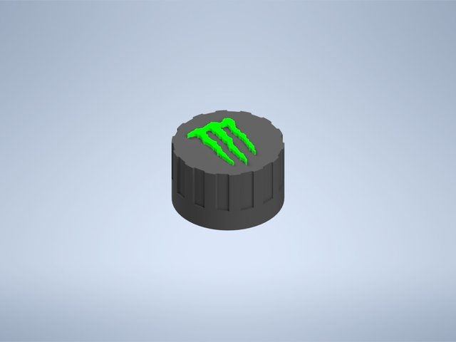 Snap on screw lid for Monster energy drink