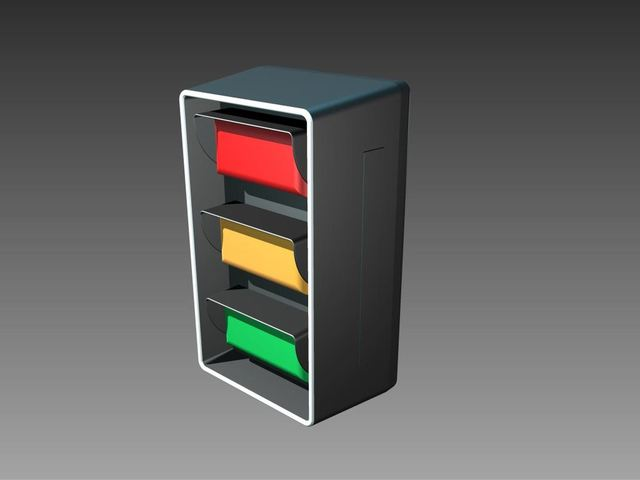 New concept of traditional traffic signal header.