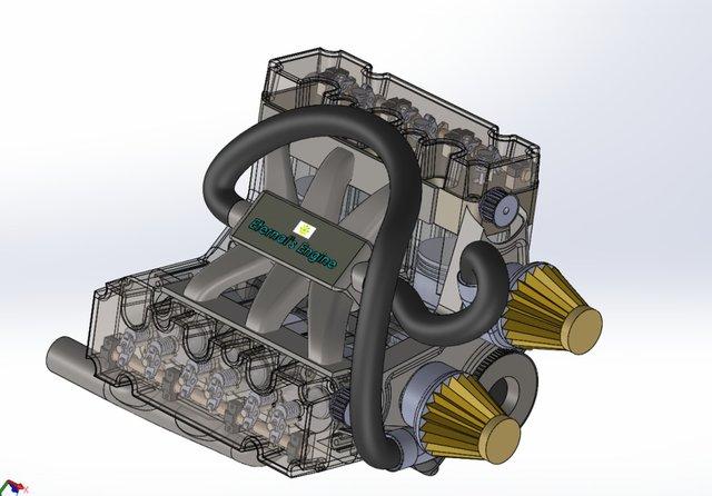 V6 turbo Engine