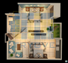 Birds Eye View 3D Architectural Layout