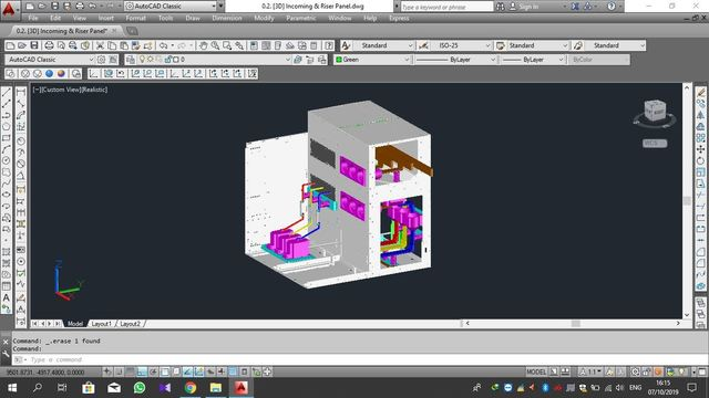 AutoCAD 3D - Panel MV Modified 3D_1
