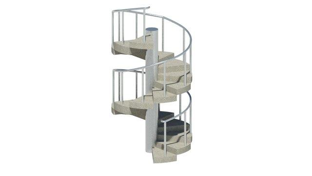 3d-spiral-stair-model