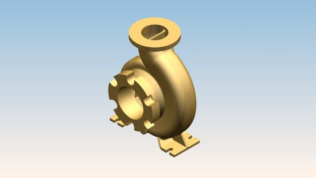 Centrifugal Casing Modelling, Drawing and rendering