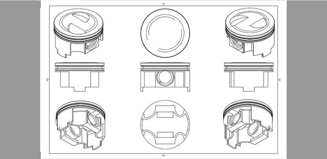 Create 3D Design and shop-drawings for BMW's piston.