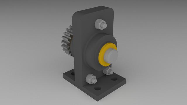 Base gear Design & Render