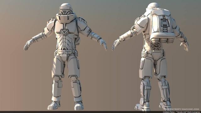 Concept 3D Sci-Fi suit