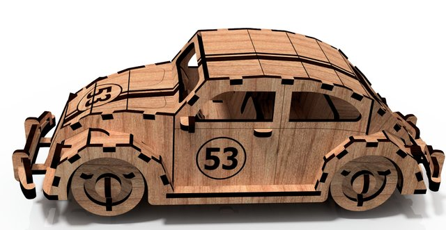 3D Puzzle Herbie Beetle Assembly