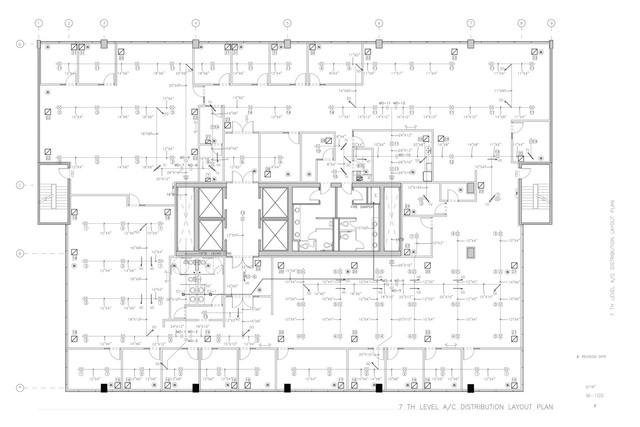 HVAC Layout - single line
