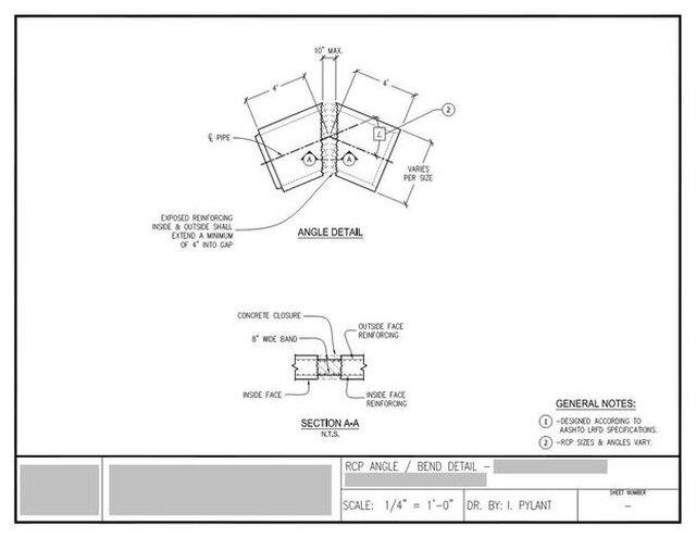concrete box culvert / concrete pipe steel reinforcement detail