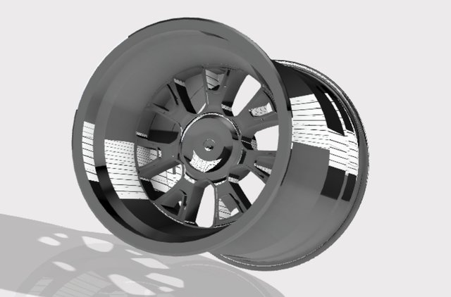 wheels with chrome texture