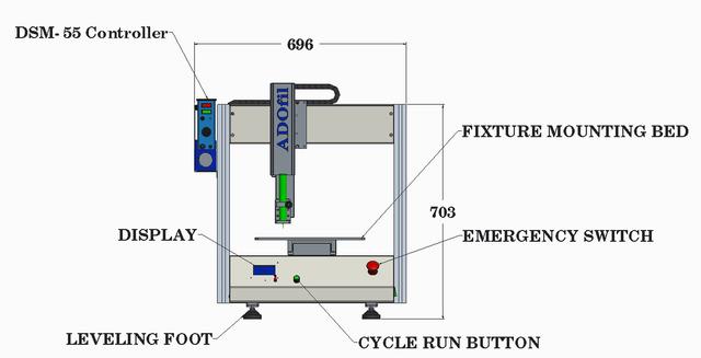 3 Axis Robotic Glue Dispensing Machine (X-400, Y-350, Z-80)